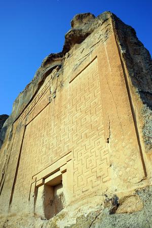 midas: Facade of temple of Mita in Midas, Turkey