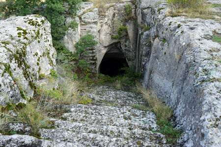 Ancient steps down in Midas, Turkey