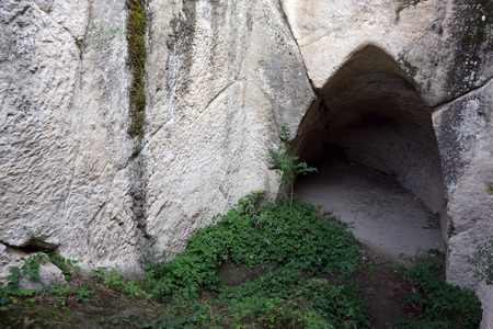 phrygian: Phrygian tomb in Midas, Turkey
