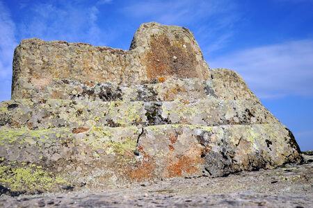 midas: Rock altar in ruined temple in Midas, Turkey