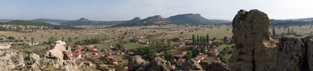 midas: Ruins of Midas and Yazilikaya village in Turkey