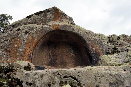 Phrygian rock tomb in Midas, Turkey Stock Photo
