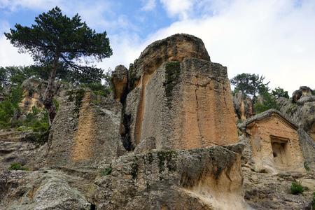 phrygian: Phrygian rock tomb, urkey