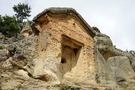 Phrygian rock tomb in Turkey