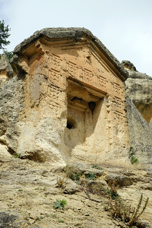 phrygian: Phrygian tomb on the rock in Turkey
