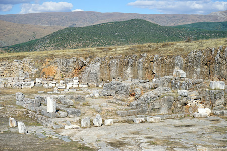 Roman temple: Ruinas del templo romano en Antiohia Pisidia cerca de Yalvac, Turqu�a Foto de archivo