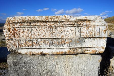 Roman temple: Parte de un templo romano en Antiohia Pisidia, Turqu�a
