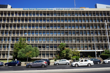 zionist: TEL AVIV, ISRAEL - CIRCA OCTOBER 2014 Facade of World Zionist Organization Editorial