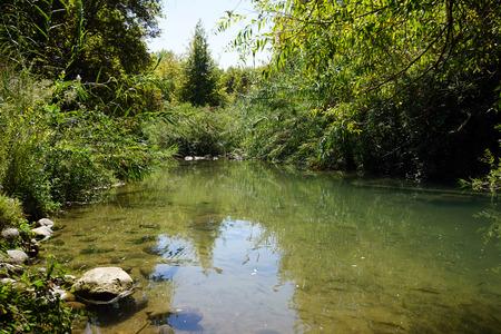 Senir river in Senir national park, Israel photo