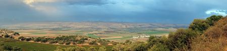 israel farming: Panorama of Hula valley in Israel