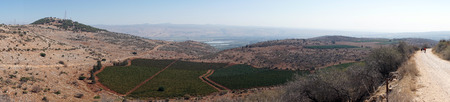 dirt: Dirt road and farmland, Israel