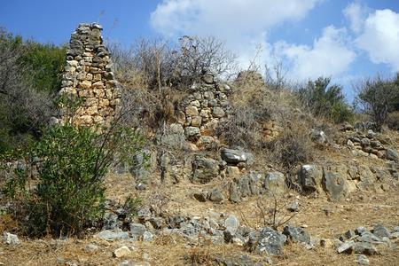 nahal: Ruins in Nahal Amud in Israel