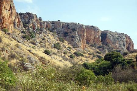 nahal: Nahal Amud ravine in Israel Stock Photo