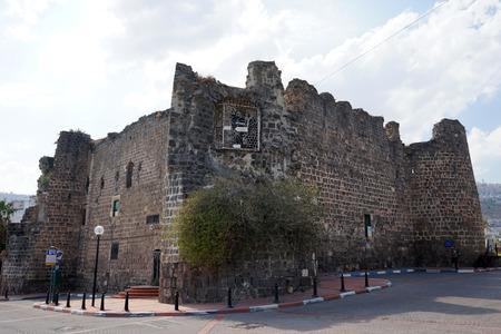 crusaders: TIBERIAS, ISRAEL - CIRCA OCTOBER 2014 Ruins of crusaders castle Stock Photo