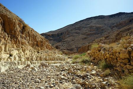 nahal: Nahal Yeelim gorge ner Arad in Negev desert