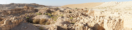 hebrews: Panorama of Meizad Tamar in Judea desert, Isrsael