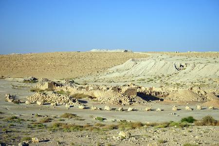hebrews: Ruins of Meizad Tamar in Judean desert, Israel