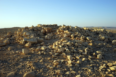 hebrews: Ancient ruins in Judean desert, Israel