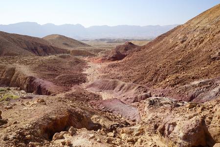 negev: Crater Makhtesh Katan in Negev desert in Israel Stock Photo