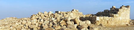 hebrews: Ancient ruins in Negev desert in Israel