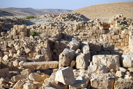 hebrews: Ruins of fortress in Meizad Tamar in Judea desert, Israel