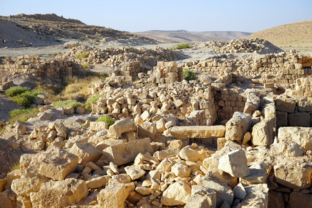 hebrews: Ruins of fortress in Meizad Tamar in Judea desert, Israel