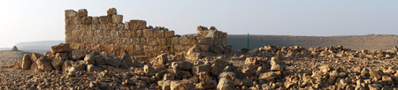 hebrews: Ancient ruins on the hill in Negev desert, Israel
