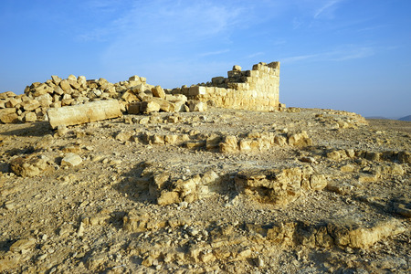 hebrews: Ancient ruins in Negev desert, Israel Stock Photo