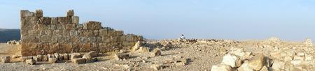 hebrews: Panorama of ancient ruins in Negev desert, Israel