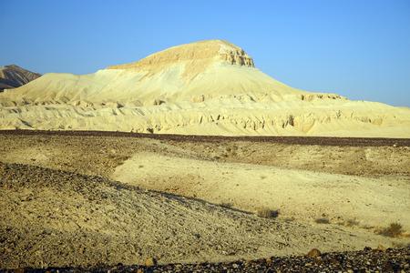 nahal: Sandstone Mador hill in Negev desert in Israel