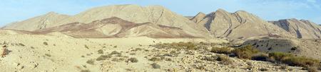 nahal: Panorama of Negev desert near Midreshet Ben-Gurion in Israel