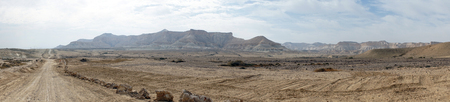 nahal: Nahal Zin valley in Negev desert in Israel Stock Photo