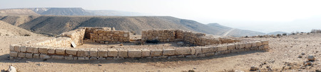hebrews: Ancient ruins near Midreshet Ben-Gurion in Negev desert, Israel Stock Photo