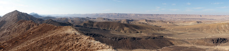 negev: Crater Ramon in Negev desert, Israel Stock Photo