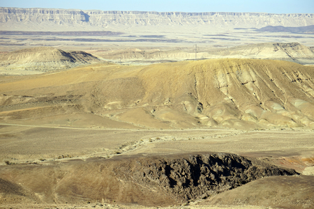 crater: Crater Ramon in Negev desert, Israel Stock Photo