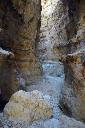 canyon negev: Barak canyon in Negev cdesert in Israel Stock Photo