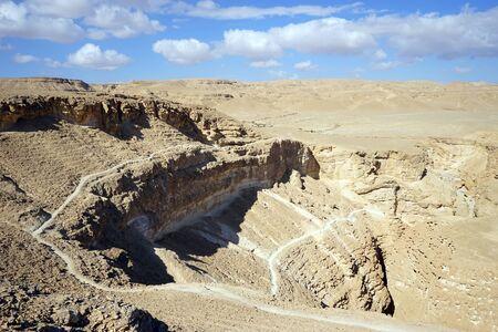 canyon negev: View on Barak canyon in Negev desert, Israel