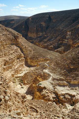 canyon negev: Footpath and Vardit canyon in Negev desert, Israel