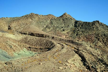 negev: Mountain in Timna park in Negev desert in Israel Stock Photo