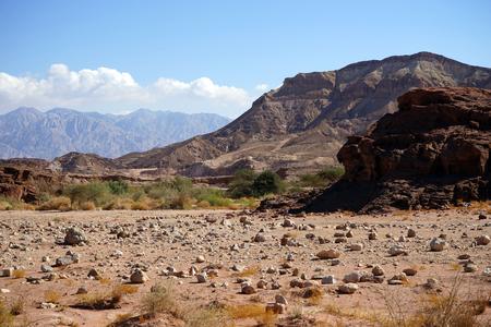Landscpe in Timna park in Negev desert, Israel