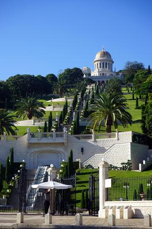 bahai: HAIFA, ISRAEL - CIRCA OCTOBER 2014 Bahai garden