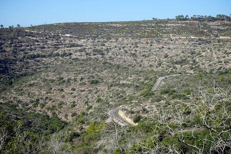 slope: Road on the slope of mount Carmel near Haifa, Israel