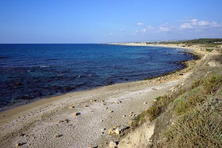 caesarea: Bay of Mediterranean sea near Caesarea, Israel