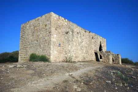 nahal: Ruins of Hirbat Samara in Nahal Alexander national park in Israel