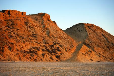 Footpath on the sand dune near he beach, Israel photo