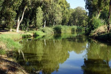 Park near Yarkon river in Tel Aviv, Israel photo