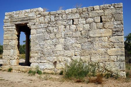 Roman mausoleum near El'ad, Israel Stock fotó