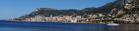 city park boat house: Panorama of Monte Carlo, Monaco