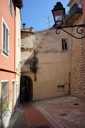menton: On the street in Menton, France Stock Photo