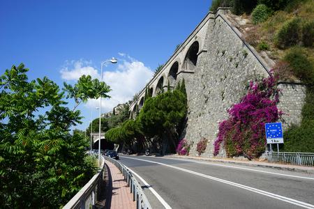 aqueduct: Aqueduct near italian-france border Stock Photo